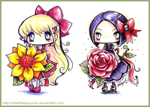 The Sunflower and the Rose by StarMasayume