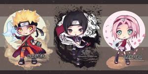 Naruto Chibis by StarMasayume