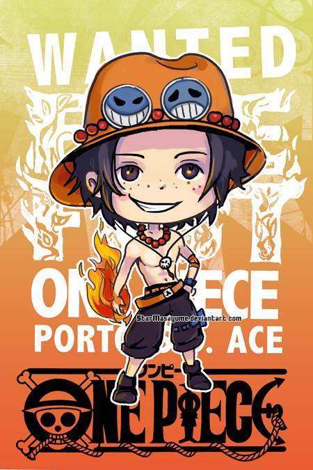 One Piece Chibi Ace By StarMasayume