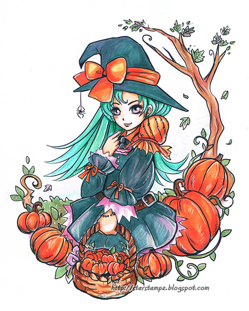 Pumpkin Witch by StarMasayume