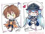 Akame Ga Kill Chibi Keychain Commission by StarMasayume