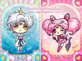 Sailor Chibi Moon and Helios