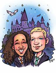 Caricature Portrait Hogwarts