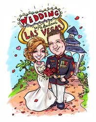 Caricature Las Vegas Wedding