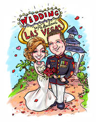 Caricature Las Vegas Wedding