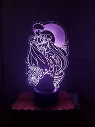 Moon Love Acrylic LED Lamp