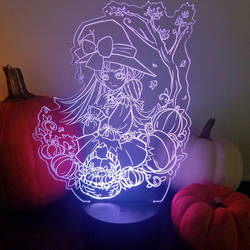 Anime Halloween Pumpkin Witch LED