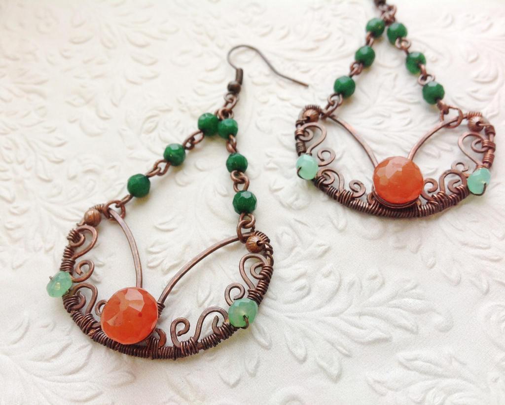 Handmade Wire Wrapped Earrings By Ginkoflwr Handmade Wire Wrapped Earrings  By Ginkoflwr