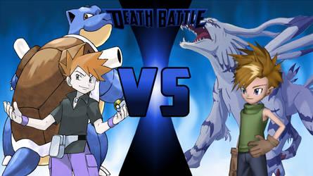 Blue/Blastoise vs Matt/Garurumon by PhantomThief7