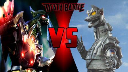 Dragonzord vs MechGodzilla by PhantomThief7