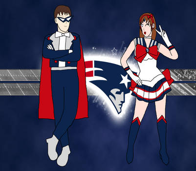 Tuxedo Tom Brady and Sailor Patriot by PhantomThief7