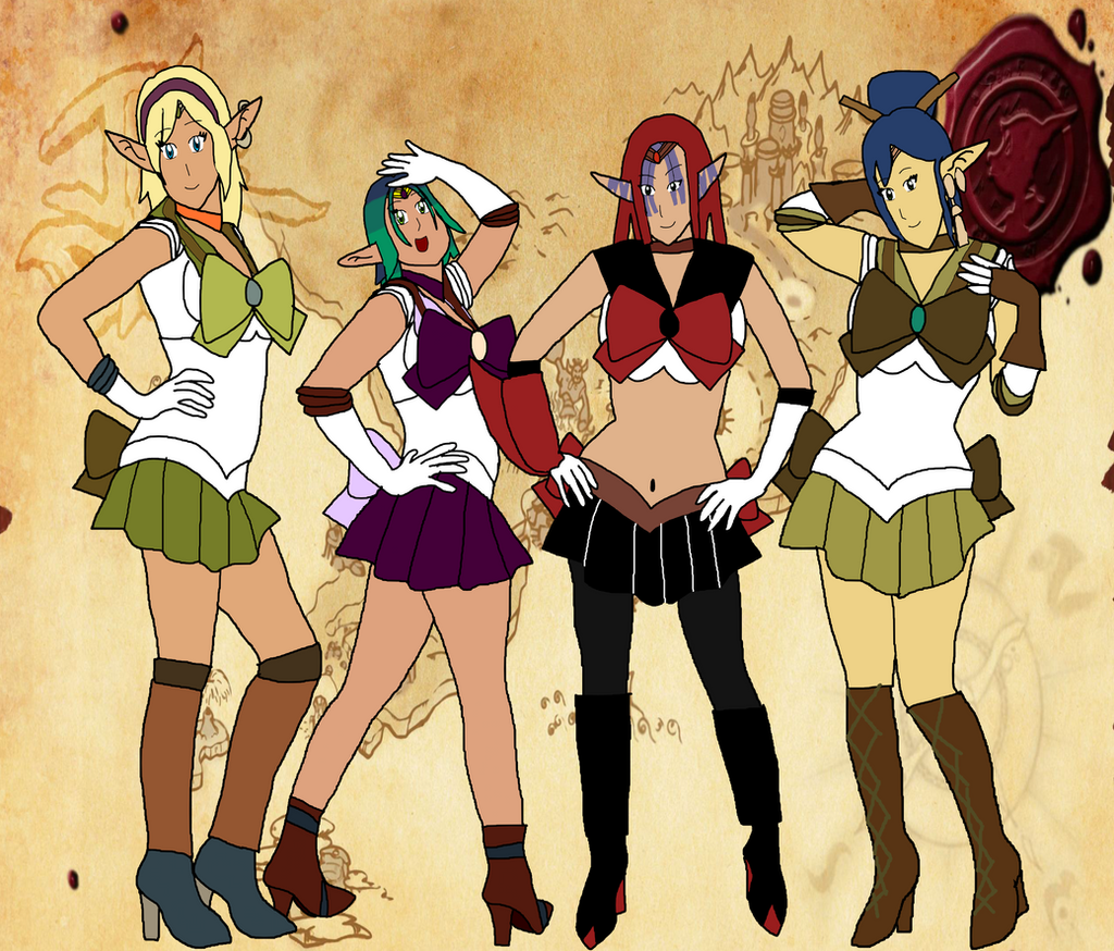 Sailor Tess,Sailor Kira,Sailor Ashlyn,Sailor Rayn By