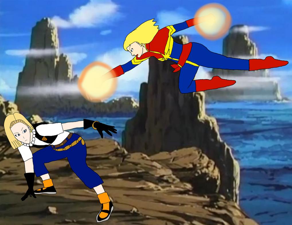 android 18 vs captain marvel death battle wiki fandom - dinocro