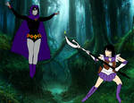 Sailor Saturn vs Raven by PhantomThief7
