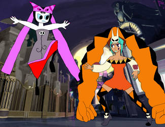 Mystique Sonia vs Cerebella by PhantomThief7
