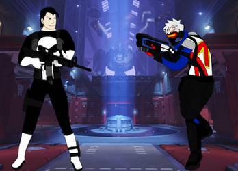 Soldier 76 vs Punisher -Remake-