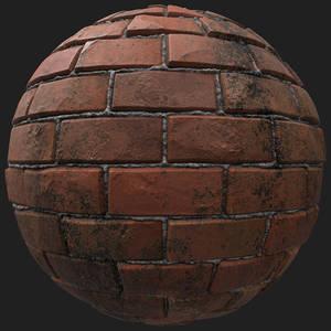 PBR texture of wall bricks dirty