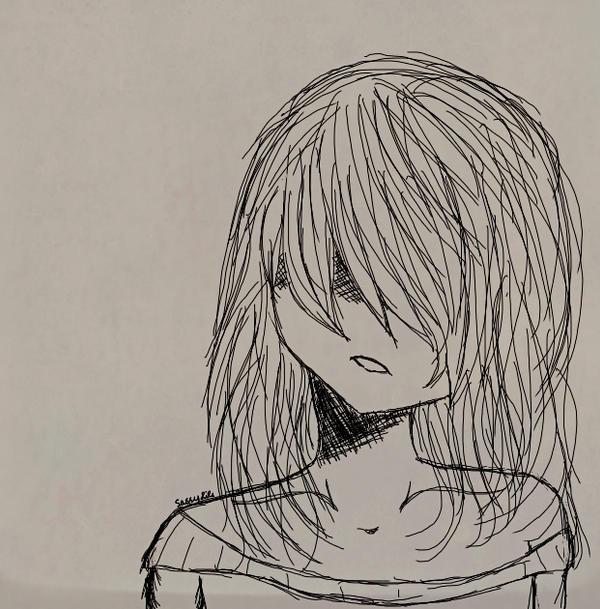 Depressed anime girl by SassyLils on DeviantArt