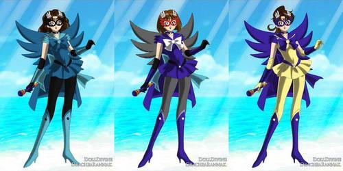 Sailor Kylmyys, Sailor Cybertron, Sailor Heka by liliCartMan