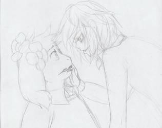 Asriel And Chara by Seemina