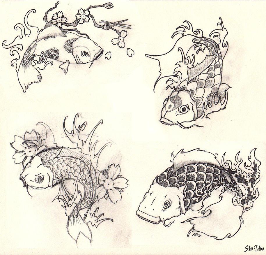 Croquis carpe koi by s kro tchino by s kro on deviantart - Carpe koi dessin ...