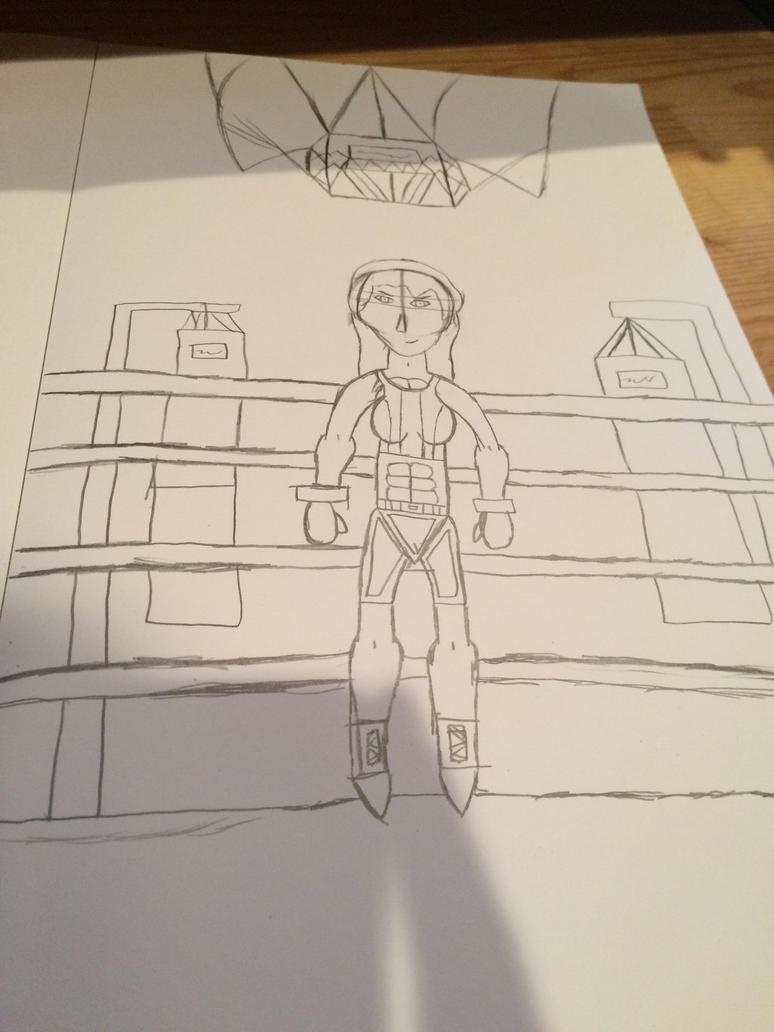 Boxing girl ((sketch)) by Trueblur1