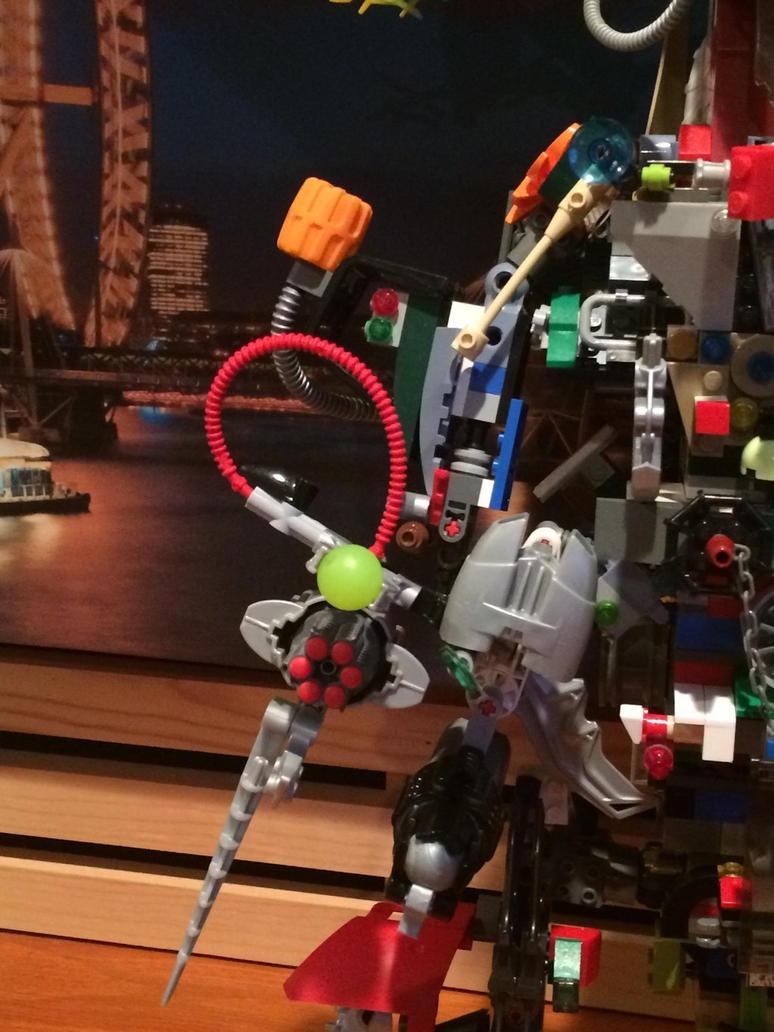 Mega build mech ((right arm front close up)) by Trueblur1