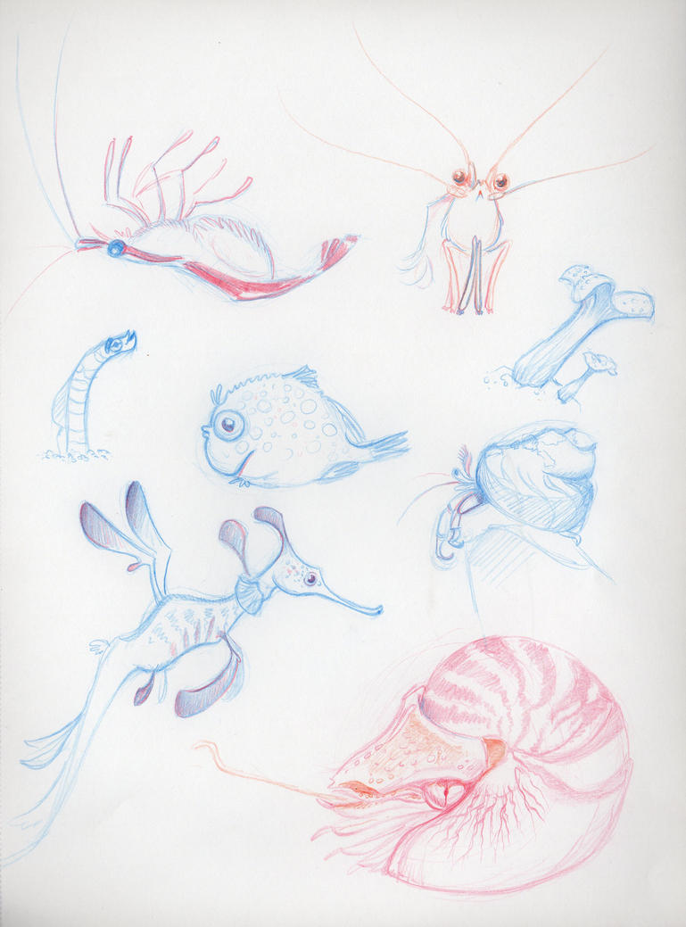 Under Water Sketches by PodwojneD