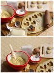 Cookies prep board - Close Up