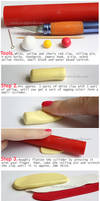 Roll Cake charm - Tutorial by thinkpastel