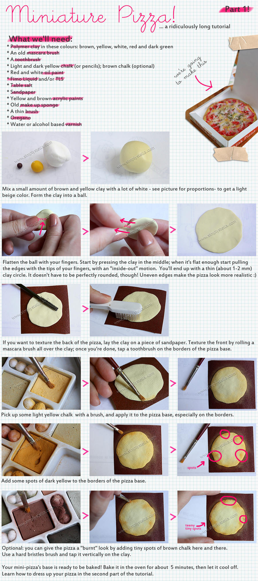Miniature Pizza Tutorial - 1 by thinkpastel