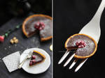 Miniature 'Chocolate tart with raspberries' - 2