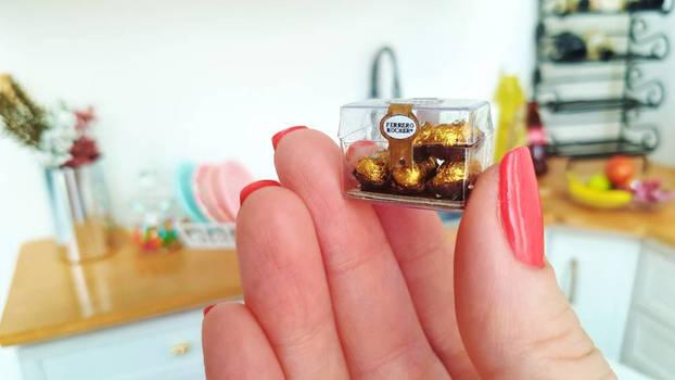 Miniature Ferrero Rocher gift box