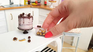 Ferrero Rocher Cake and Gift Box