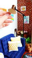 Miniature Floor Lamp for BARBIE DOLLS or Dollhouse