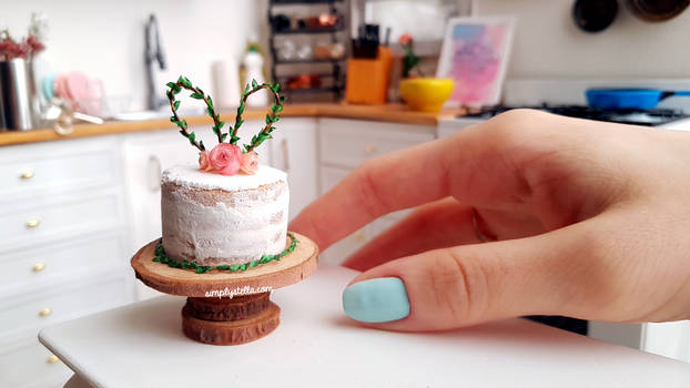 Miniature Polymer Clay Easter Cake (DIY TUTORIAL)