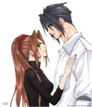 Final Fantasy VII: Lucrecia and Vincent Render