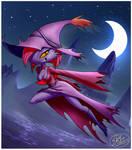 Willhermina flying at night