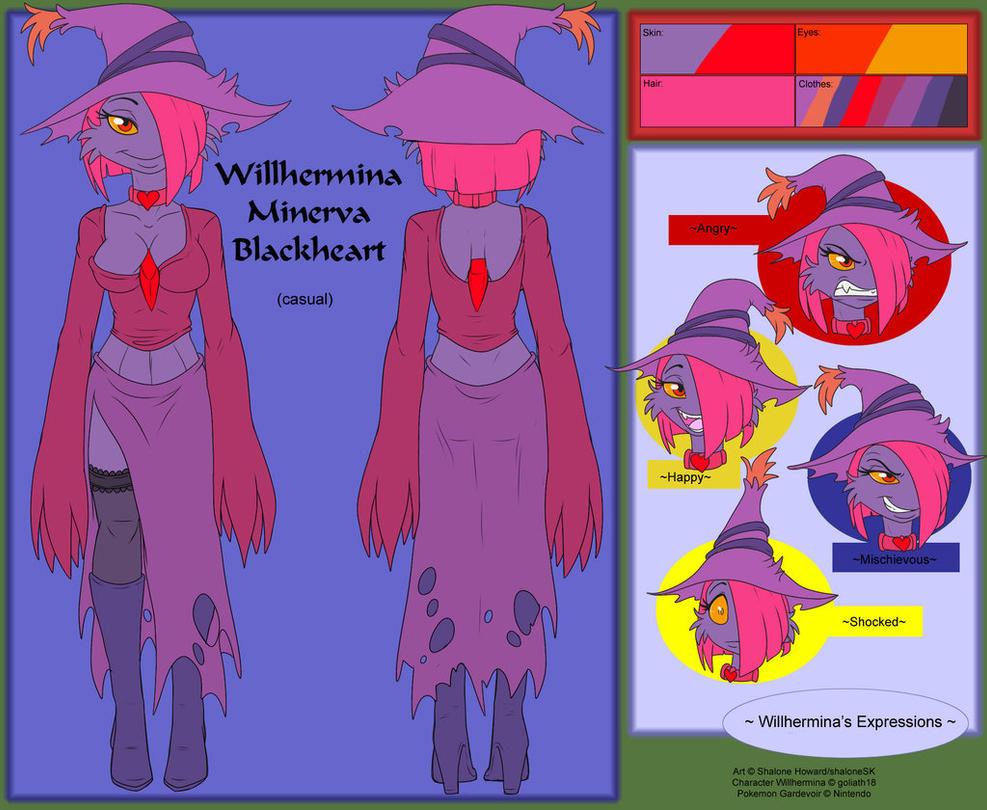 Willhermina Minerva Blackheart Ref Casual by goliath18