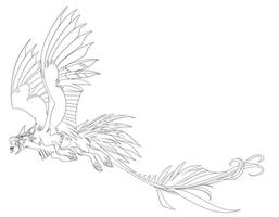 Griffin lineart by VixieArts