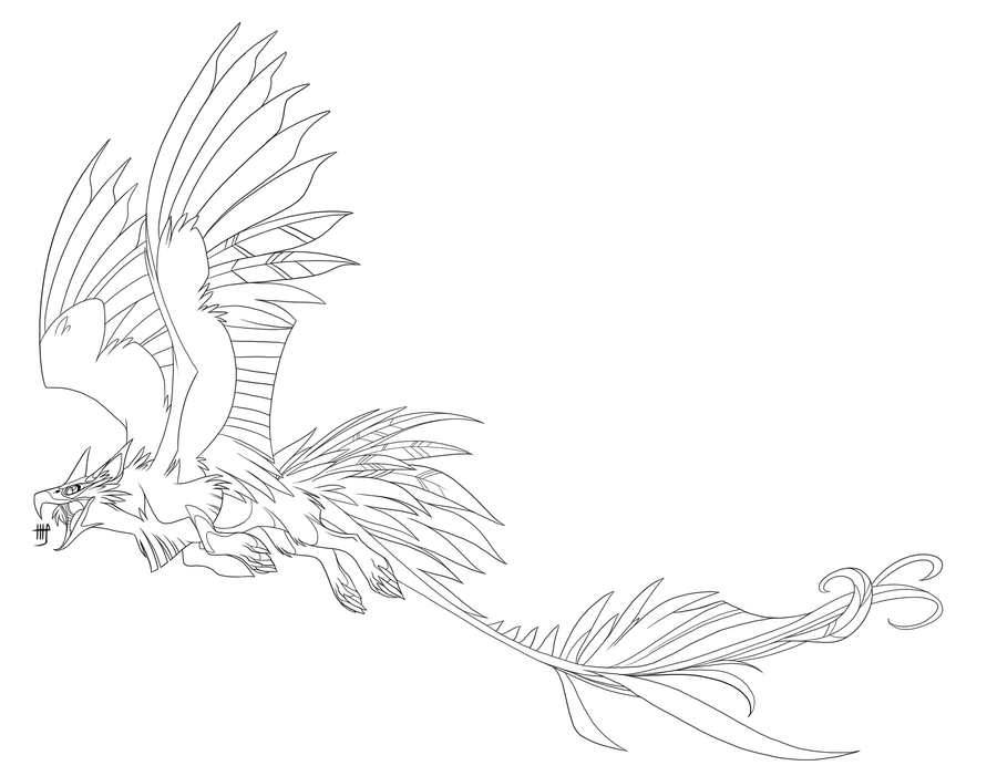 Griffin lineart by VixieArts on DeviantArt