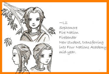 4 Nations Academy Lil sketches by lilfirebender
