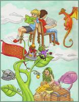 Kids Read Comics by lilfirebender