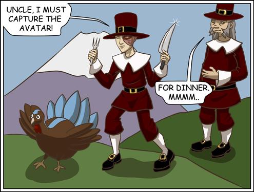 Avatar Thanksgiving by lilfirebender