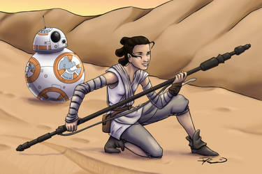 SW7 Rey and BB 8