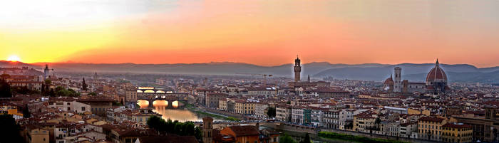 Florence at Sunset by WonderLemming