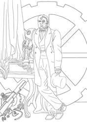 Steampunk Cyborg by MauricioEiji