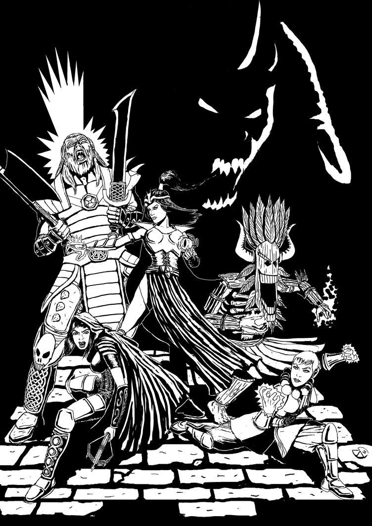Diablo III Black and White by MauricioEiji