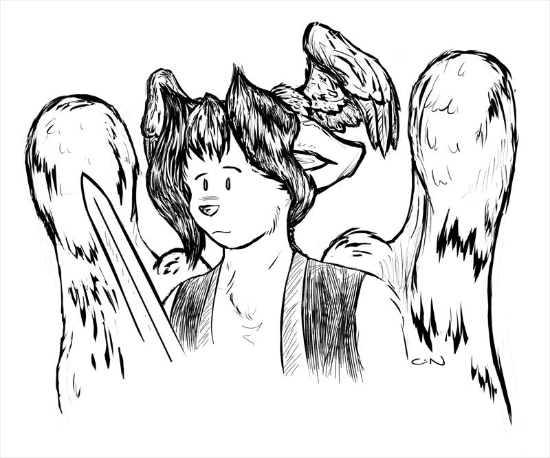 Dan of DMFA-guest drawing by CameronCN