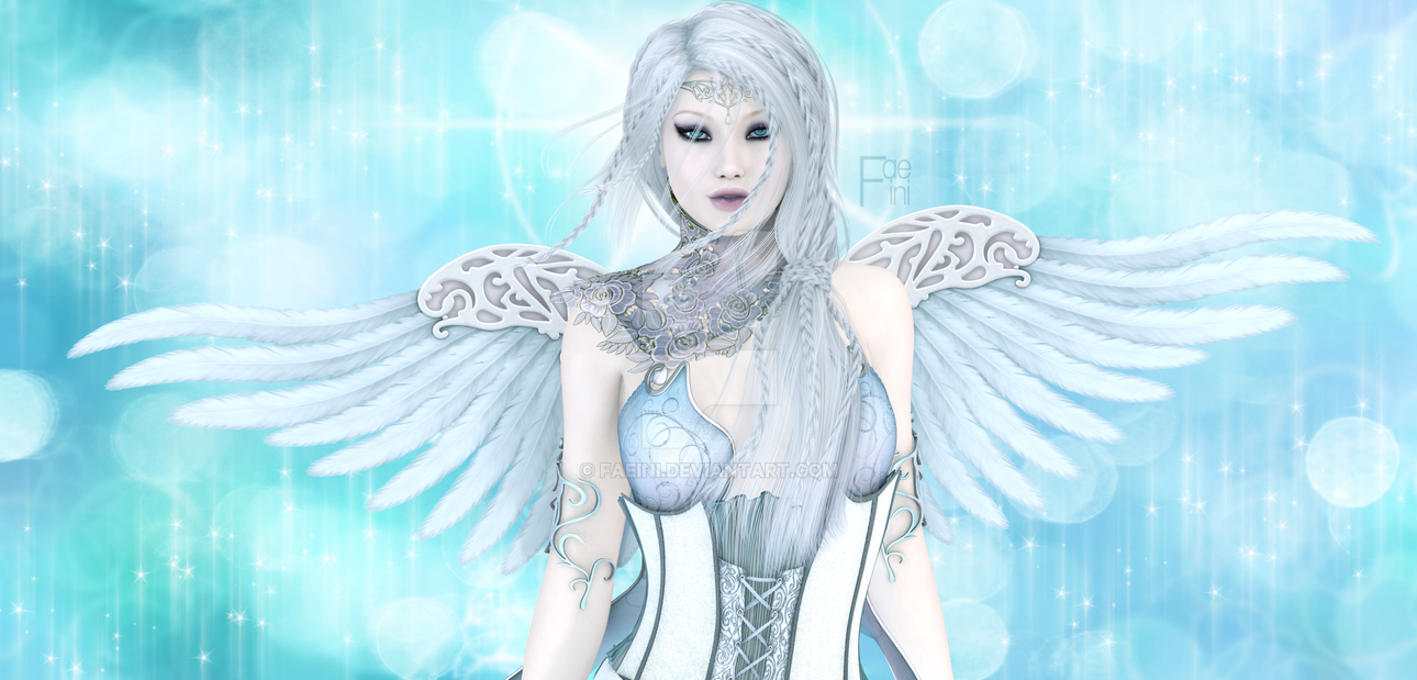 White and Blue by Faeini